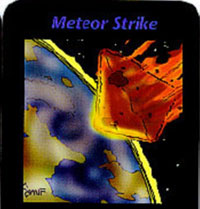Meteor strike card