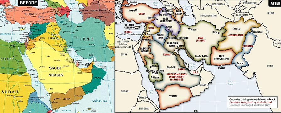 President Bushs Middle East Map Is Enraging Friends And Foes - Mid east usa map