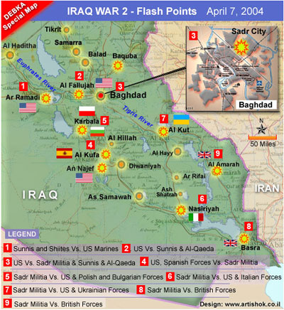 This Map Clearly Shows The Current Battles Being Fought In Iraq Between Insurgents And The Coalition Forces Where Is Ancient Babylon On This Map