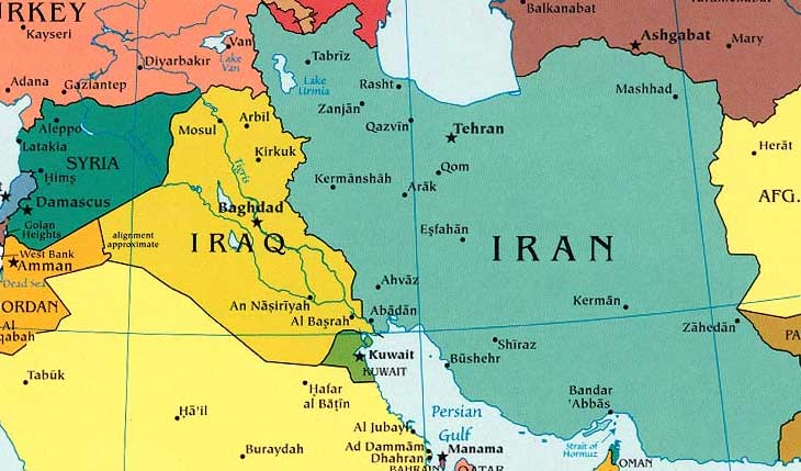 Iran And Iraq Map Iran, Iraq: What's the Difference?
