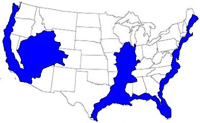 STARTLING REVELATION NOW WE KNOW WHY THE ILLUMINATI TELEGRAPHS - Map of flooding in us